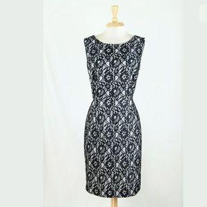 Calvin Klein Black Floral Lace Sheath Dress 14